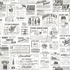 ADAMSTOWN CREAM VINTAGE NEWSPAPER - Wallpaper This is our new ...