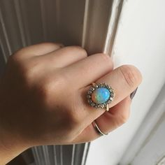 • Opal + Old Mine Cut Diamond Ring .80ctw • Available soon, www.abrandtandson.com.
