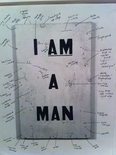 Glenn Ligon's 1988 work Untitled (I Am a Man), a replica of the sign carried by striking Memphis sanitation workers in 1968.