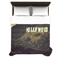 "Catherine McDonald ""Hollywood"" Duvet Cover #teens #teenrooms #unisex #photography #blackfriday #blackfridaysale #sale #bedding #movietheme #movienight #cinemaphile #gifts"