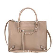 Balenciaga Mini Papier A4 Zip Around Leather Shoulder Bag