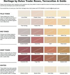 Stone and neutral shades from the Dulux Heritage colour