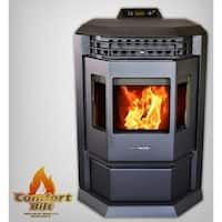 Bring a traditional look to your home with this ComfortBilt HP EPA Certified Pellet Stove with Auto Ignition and Stainless Steel Trim in Carbon Black. Best Pellet Stove, Thing 1, Heat Exchanger, Fireplace Inserts, Carbon Black, Bay Window, Keep It Cleaner, Burgundy, Bedrooms