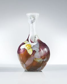 Emile Gallé A MARQUETERIE SUR VERRE AND WHEEL CARVED GLASS VASE, CIRCA 1899. SIGNED