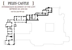Floor Plan of The Loft between and Castle Floor Plan, House Floor Plans, Peles Castle, Interior And Exterior, Architecture Design, Flooring, How To Plan, Mansions, Sims 4