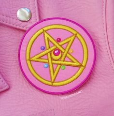 an+adorable+pentagram+compact,+suitable+for+summoning+souls+from+the+deepest+realms+of+the+negaverse+♥  ♥+3x3+inches+wide ♥+Iron+on+-+Super+easy+to+apply,+but+some+sewing+is+recommended+if+you'll+be+washing+the+item+a+lot.+ ♥+Made+for+any+type+of+apparel-+jackets,+vests,+even+t-shirts,+the+cu...