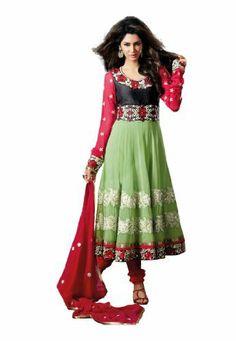 Fabdeal Women's Indian Designer Wear Embroidered Salwar Green & Red Fabdeal, http://www.amazon.de/dp/B00GD6BJJQ/ref=cm_sw_r_pi_dp_S69otb0T0B61D