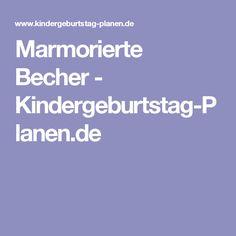 Marmorierte Becher - Kindergeburtstag-Planen.de
