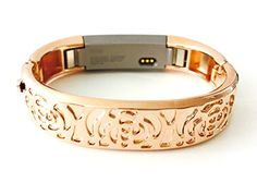 BSI Rose Gold Metal Bracelet For Fitbit Alta Fitness Tracker Flowers Design Medium Size 58  65 inches ** See this great product.
