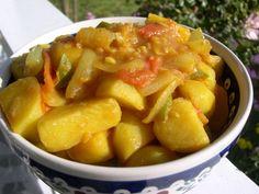 nepalese potato, onion and tomato tarkaari