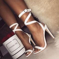 Nice sexy white stilleto ##highheels