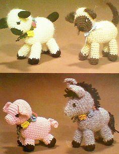 Vintage Crocheted Animal Patterns by MAMASPATTERNS on Etsy, $3.50