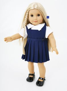 Dolls School Uniform for Our Generation 18 inch dolls from Frilly Lily www.frillylily.co.uk