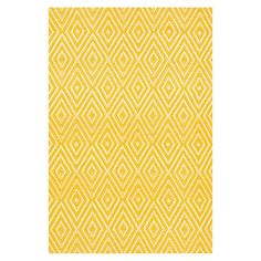 Dash  Albert Diamond Indoor/Outdoor Rug in Canary