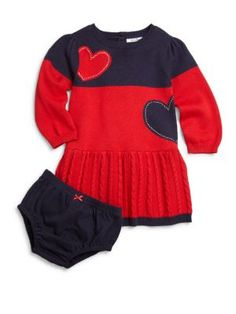 Hartstrings - Baby's Two-Piece Heart Dress & Bloomers Set