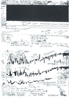 The Order of Sounds Graphic Score, Music Manuscript, Art Of Noise, John Wall, Script S, Fluxus, Sound Art, Music Score, Sound Design