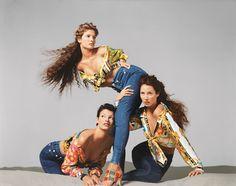 Linda Evangelista, Stephanie Seymour, and Christy Turlington, Versace spring/summer 1993 campaign, New York, November 1992 Credit © 2014 The Richard Avedon Foundation. Courtesy Gagosian Gallery.
