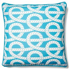 Twisted Rope 18x18 Outdoor Pillow, Aqua | Perk Up the Patio | One Kings Lane Patio Pillows, Throw Pillows, Outdoor Pillow, Colorful Pillows, One Kings Lane, Home Decor Accessories, Blanket, Aqua, Towels