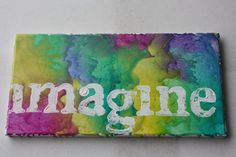 Imagine  Melted Crayon Art by ColourInspiration on Etsy, $30.00