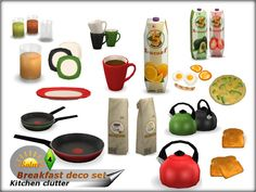 Sims 4 CC's - The Best: Breakfast Decorative Set by Solny