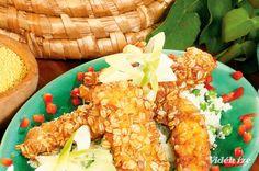 Pulykacsíkok zabpelyhes kuszkuszbundában  szerda   ebéd  690 Kcal