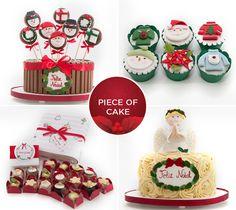 Doces de Natal - Bolos, cupcakes e bombons da Piece of Cake