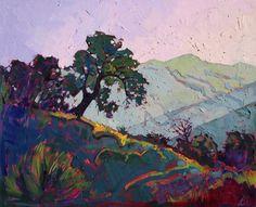 """California Hills Impressionism Landscape Original Oil Painting Erin Hanson 32"""""""