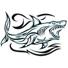 Twisted Tribal Temporary Tattoo, Tribal Shark, Made in USA