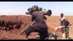 قناص حزب الله يضرب ارهابي النصره وهو يطلق صاروخ تاو ومقتل المصور في ادلب