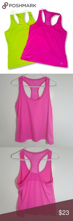 Live Love Dream Neon Racerback Mesh Exercise Tanks Live Love Dream Neon Racerback Mesh Exercise Tanks bundle of 2 tops both EUC brand new condition Size Large Aeropostale Tops Tank Tops