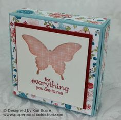 Hi all, this little nugget box is so easy to create and you can get 2 out of a single sheet of card stock! The box holds 4 wrapped Hershey . Envelope Punch Board, Box Template Maker, Paper Punch Art, Paper Purse, Cute Box, Treat Holder, Diy Box, Paper Piecing, Craft Fairs