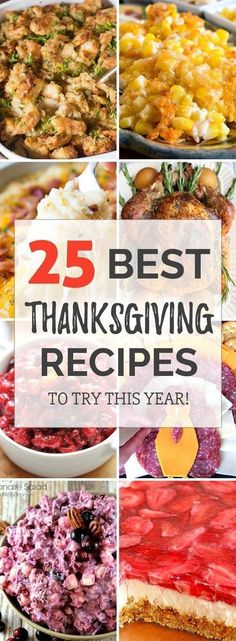 25 Best Thanksgiving recipes for dinner party! Cooking inspiration in Thanksgiving food, side dishes and stuffing. #ThanksgivingRecipes #ThanksgivingDinner #ThanksgivingTable #Thanksgiving