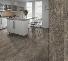 """Shaw laminate in a """"limed"""" visual combining traditional and modern. Style Breton in color Caviar."""