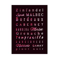 Red Wine Types Home Fine Art Print by tanjica's Artist Shop red wine geek,wine lover,grape,drink,alcoholic,burgundy,taste,palate,light,rich,sweet,dry,tannin,savory,rustic,france,spain,italy,argentina,mediterranean,vineyard,winery,wine poster,wine list,cafe,restaurant,cellar,aroma,sophisticated,delicious,bottle,ageing,complex,vibrant,meaningful,wine blends,wine prints,home decor,elegant,modern,trendy,best gift,individuality,personality