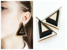 Triangle earrings 1