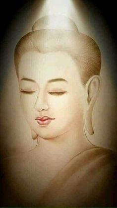 Gautama Buddha, Buddha Buddhism, Buddhist Art, Portrait Acrylic, Portrait Art, Budha Painting, Buddha Artwork, Theravada Buddhism, Anime Art Girl
