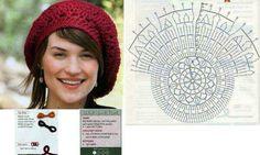 Crochet hat baret