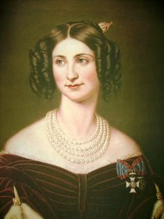 Eugenie von Hohenzollern-Hechingen wearing a pleated bodice by ? (location unknown to gogm) | Grand Ladies | gogm
