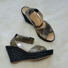 Belle by Sigerson Morrison Metallic Wedge Sandal Condition: Brand new!! Without box.  These are way to gorgeous to pass up!  NO TRADES!! Belle by Sigerson Morrison Shoes Wedges
