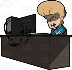 A man seemingly disappointed by what he saw on the computer screen #aggravated #angered #angry #blonde #blueeyed #blueeyes #cartoon #computer #computerchair #CPU #desk #desktop #desktopcomputer #distressed #emotion #emotional #enraged #ergonomicchair #frustrated #frustration #furious #furrowed #grownup #hotunderthecollar #individual #infuriated #irate #ireful #keyboard #LEDscreen #livid #mad #maddened #male #maleperson #man #monitor #mouse #outraged #pressure #pressured #provoked #raging…