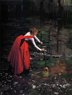 the new yorker, fashion, richard avedon, red riding hood, little red, dresses, memories, fairi tale, photographi
