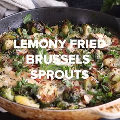 Lemony Fried Brussels Sprouts