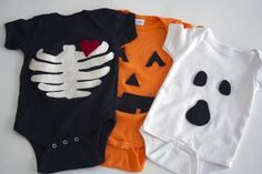 Check out the full tutorial on the blog to create sweet Halloween onesies for your little one. #Halloween #DIY