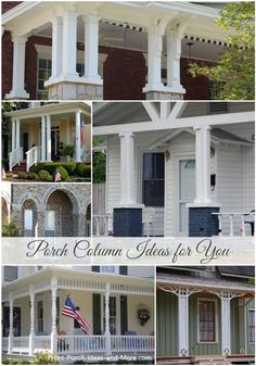 How to design porch with exterior porch columns for Hb g permacast columns price