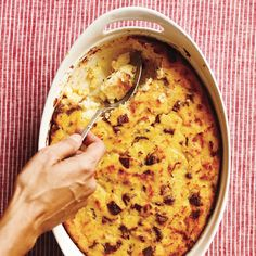 Sausage and Polenta Breakfast Casserole Recipe | MyRecipes