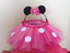 Easter basket. Minnie mouse inspired.