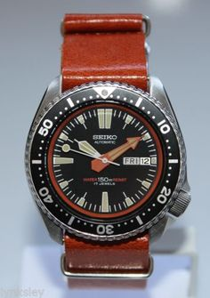 SEIKO-Vintage-6309-7290-Military-Diver-Watch-Automatic-Leather-Strap