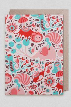 Alice In Wonderland card by Helen Dardik at thekidwho.eu.