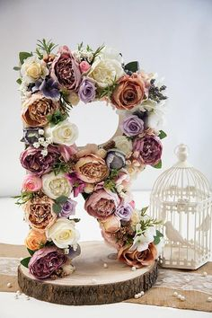 Large Floral Letter Flower Letter Nursery Letter Flower Intitial Baby Shower Letter Monogram Baby Gift Wedding Letter Gift Photography Decor This beautiful customized free standing floral letter make a great show-stopper focal point for your bridal shower, wedding reception, baby