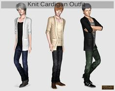 Knit cradigan Outfit at YS3 Studio - Sims 3 Finds